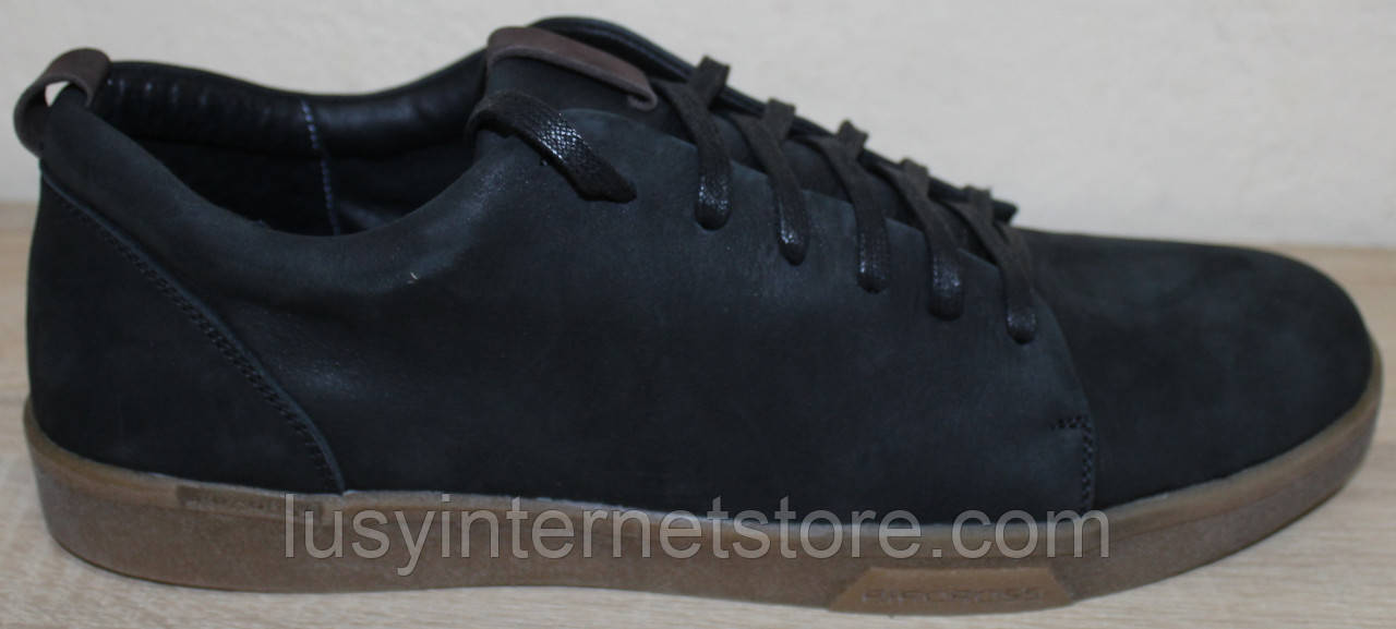 Кроссовки черные мужские из нубука от производителя модель ГЛ19-1Р