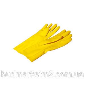 Перчатки хозяйственные желтые латексные