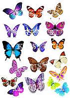 Съедобная печать на вафельной бумаге Бабочки (14)