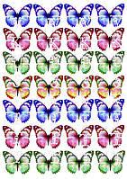 Съедобная печать на вафельной бумаге Бабочки (17)