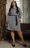 """Платье-рубашка """"Нина""""  в большом размере размер 52,54,56"""