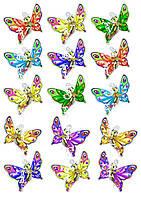 Съедобная печать на вафельной бумаге Бабочки (19)