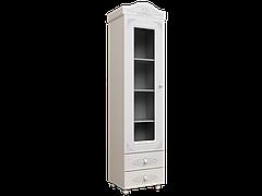 Шкаф-пенал со стеклом Ассоль АС-01 (Белый)