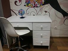 Стол письменный Белль АС-06 (правый) (Белый), фото 3
