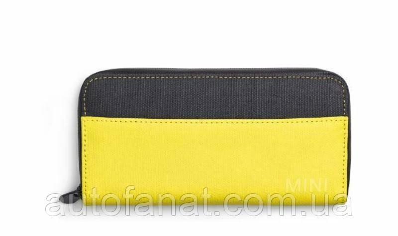Оригінальний міні MINI гаманець Wallet Colour Block, Grey/Lemon (80212445663)