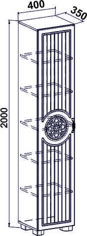 Стеллаж Монблан МБ-3 (венге светлый), фото 2