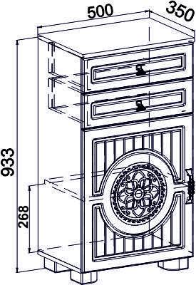 Тумба комбинированная Монблан МБ-7(венге светлый), фото 2