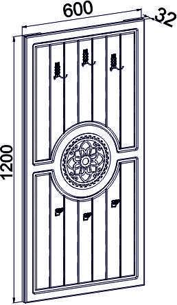 Вешалка Монблан МБ-8 (венге светлый), фото 2
