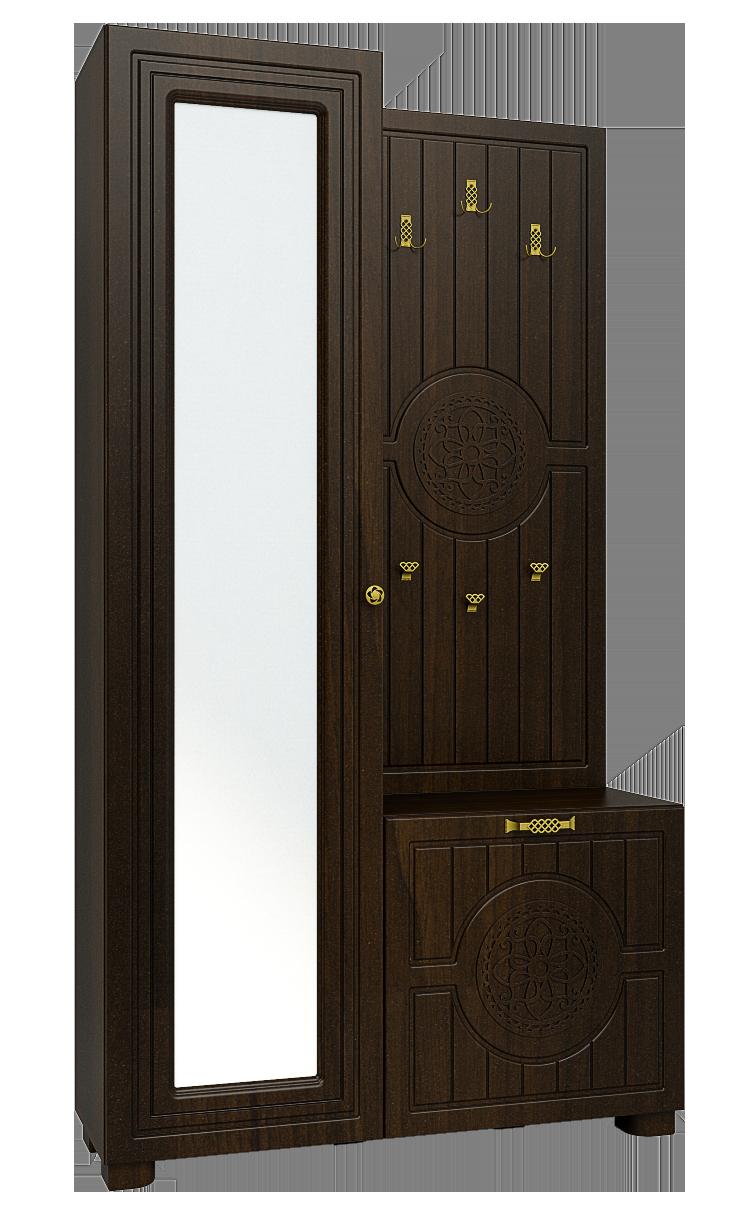 Шкаф комбинированный Монблан МБ-10 (Орех темный)