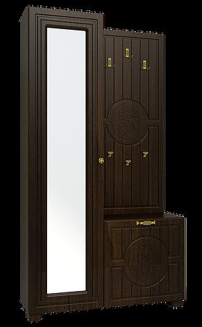 Шкаф комбинированный Монблан МБ-10 (Орех темный), фото 2