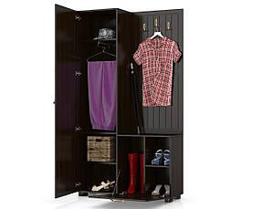 Шкаф комбинированный Монблан МБ-10 (Орех темный), фото 3