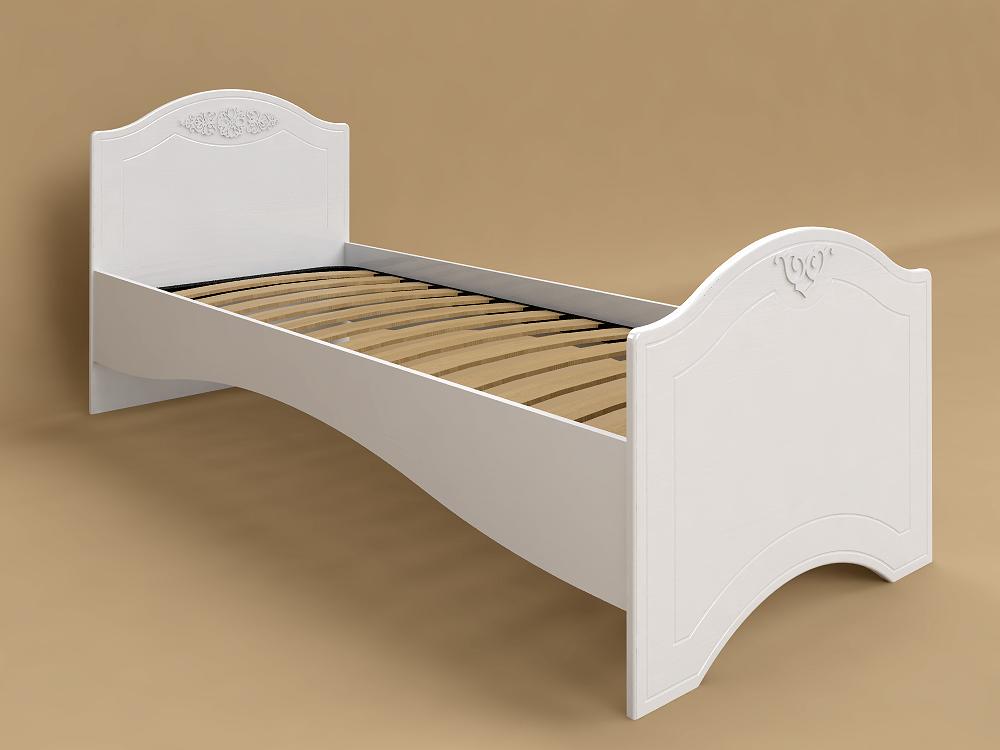 Кровать без ламелей Ассоль АС-09 (80*200/190) (Белый)