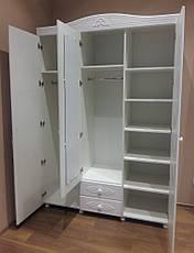 Шкаф трёхстворчатый Ассоль АС-27 (с зеркалом) (Белый) , фото 3