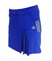 Юбка женская эластан.Юбка -шорты. Юбка с шортами для тенниса. Электрик, разные цвета.