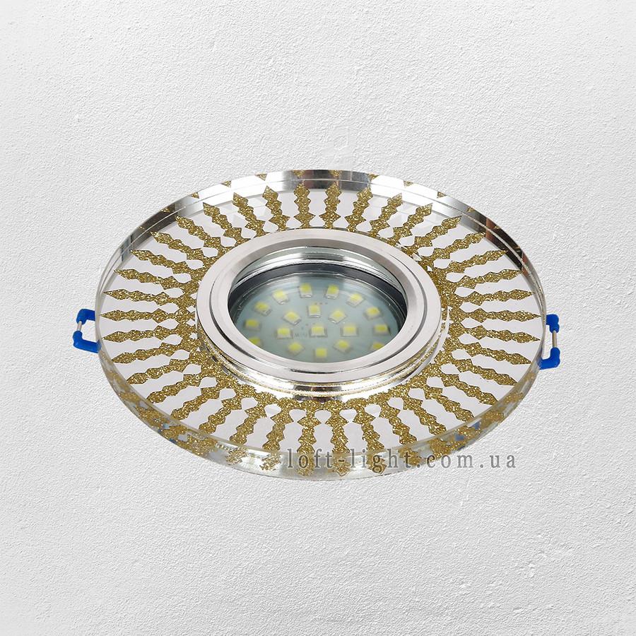 Точечный врезной светильник  16-MKD-C27 GD