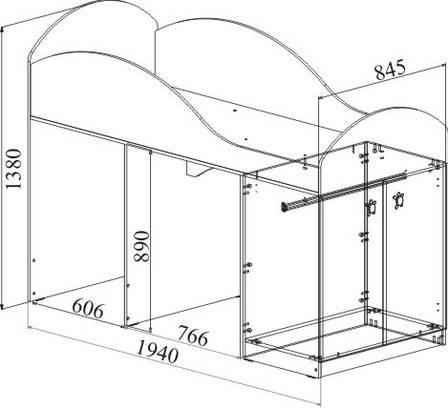 Кровать - чердакМаугли МДМ-2 (Лайм), фото 2