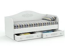 Кровать Белль АС-10 (90*200) (Белый), фото 2