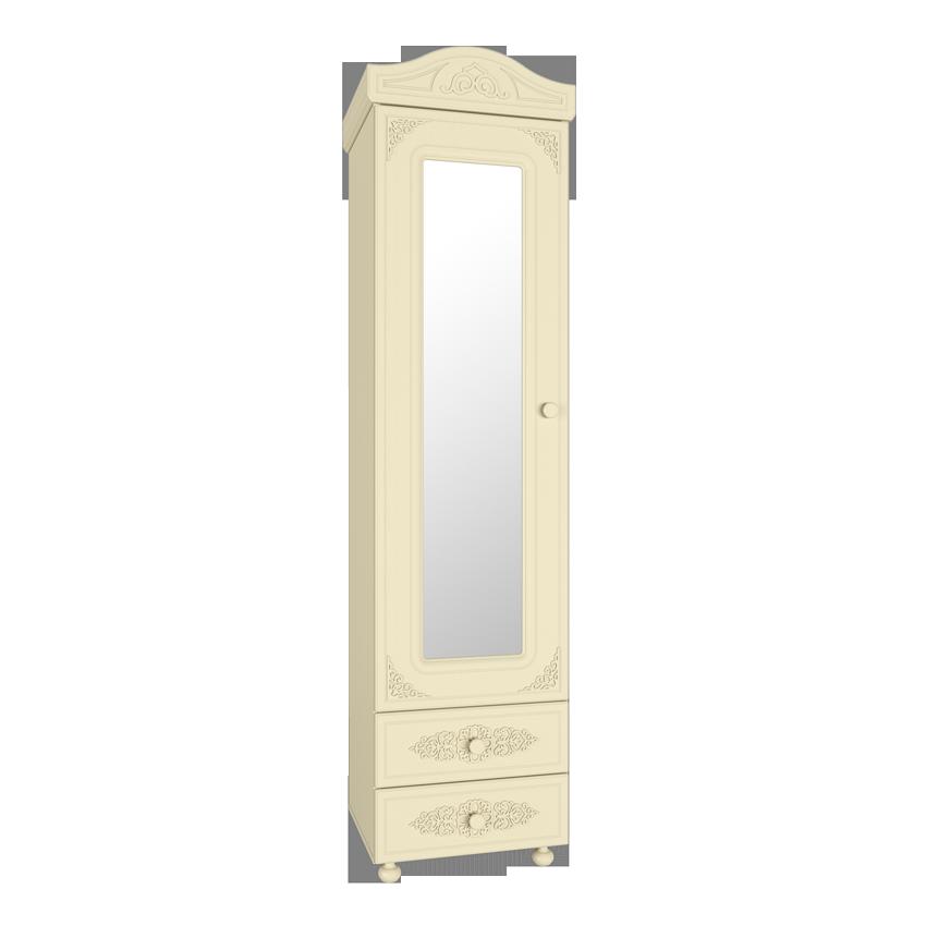 Шкаф-пенал с зеркалом Белль Плюс АС-01 (Бежевый)