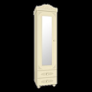 Шкаф-пенал с зеркалом Белль Плюс АС-01 (Бежевый), фото 2