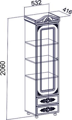 Шкаф-пенал  Белль Плюс АС-01 (Бежевый) (глухой), фото 2
