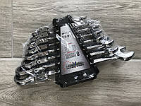 Набор рожково-накидных ключей с трещеткой на кардане 8 шт • Euro Craft