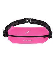 Беговая сумка на пояс Fitletic Mini Running Belt (розовый\черный)