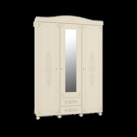 Шкаф трёхстворчатый Ассоль Премиум АС-27 (с зеркалом) (кремовый), фото 2