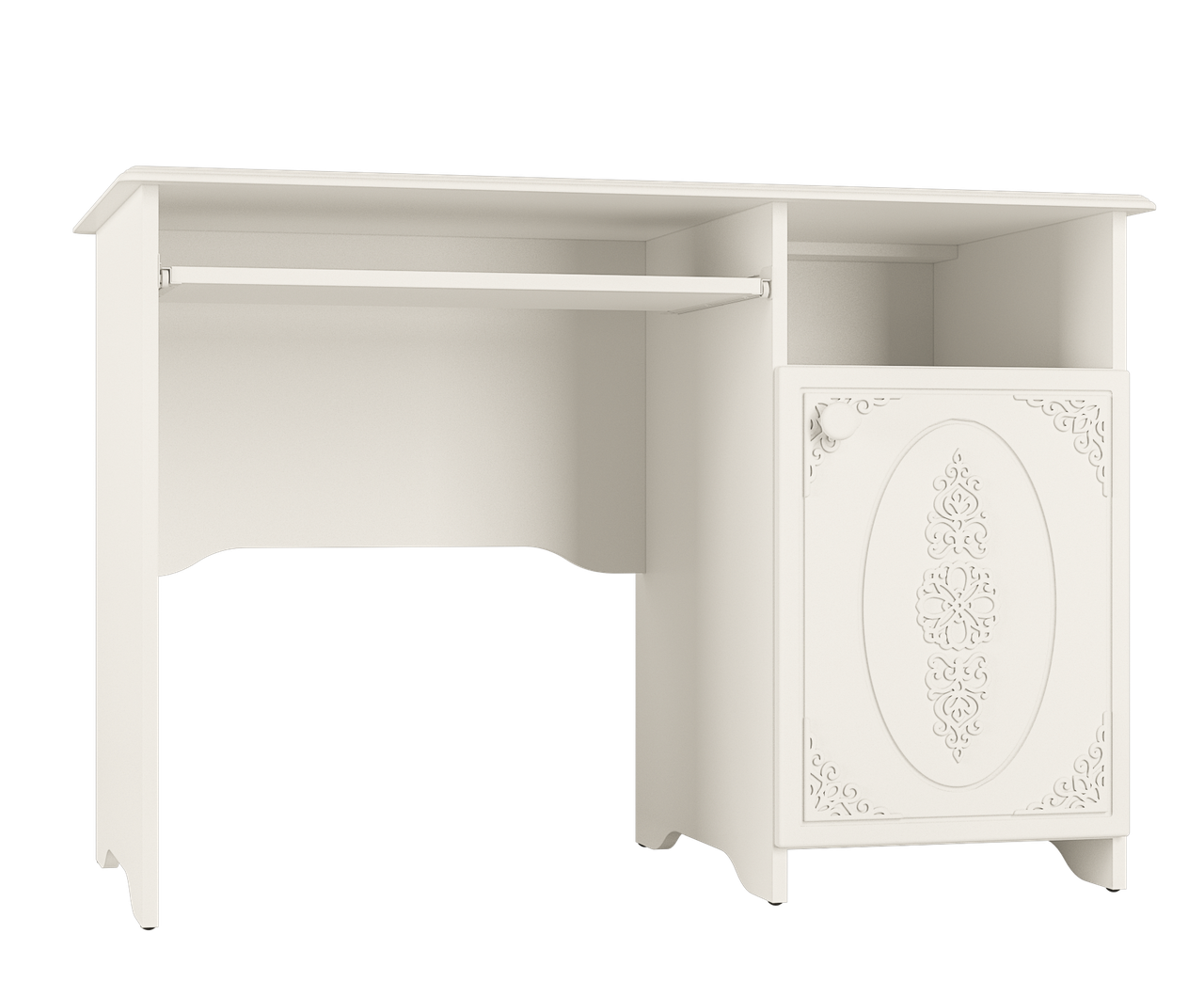 Стол компьютерный Ассоль АС-243 (Белый)