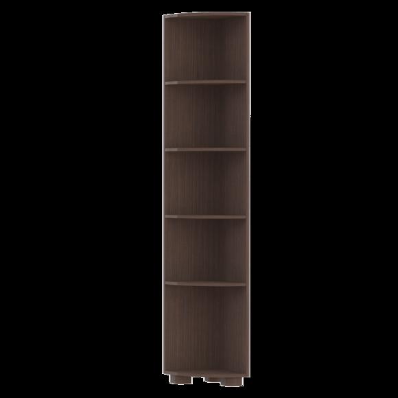Стеллаж угловой Монблан МБ-4 (Темный орех)