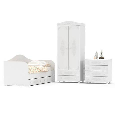 Комплект мебели для детской Ассоль (компоновка 6) (Белый), фото 2