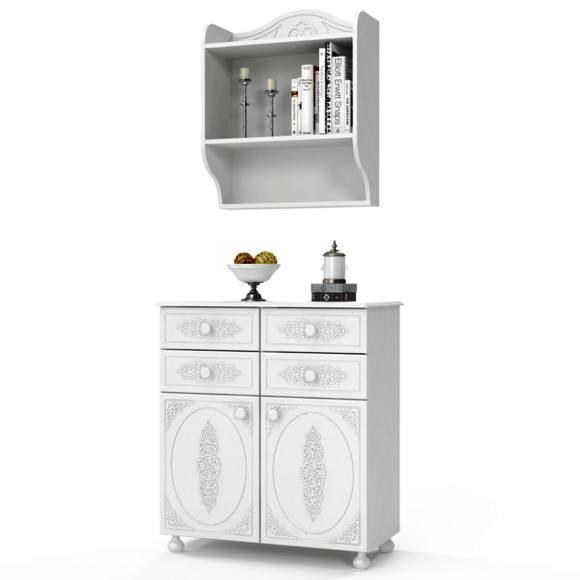 Комплект мебели для детской Ассоль (компоновка 9) (Белый)
