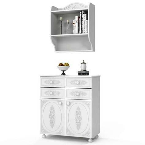 Комплект мебели для детской Ассоль (компоновка 9) (Белый), фото 2