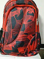 Рюкзак ортопедичний, чорний з черв. полосками, L, 46*30*15 см, Leader 982311