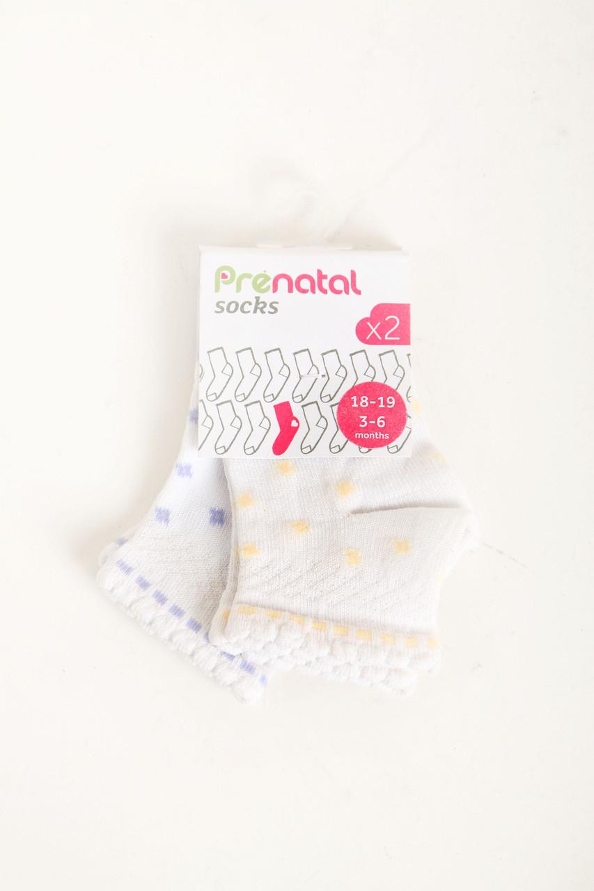 Комплект (носки 2 ед.) Prenatal 6-9 month (19-20 size) комбинированный (S409SC022KP001_Mix)