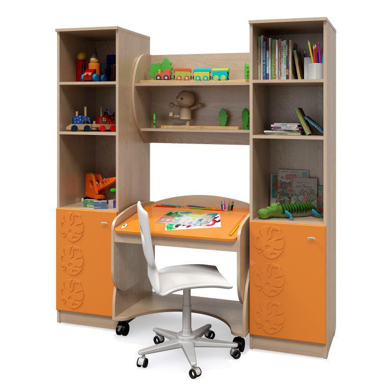 Комплект мебели для детской Маугли (компоновка 1) (Оранжевый)