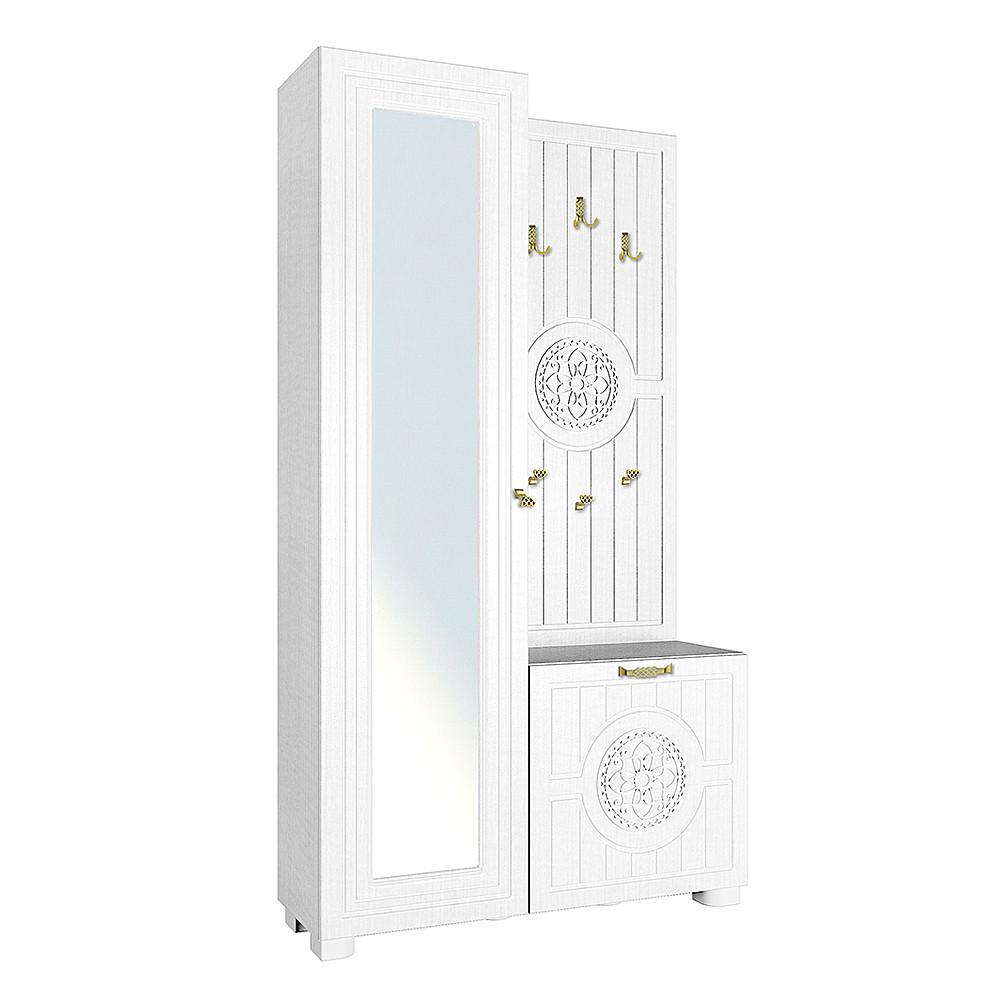 Шкаф комбинированный Монблан МБ-10 (Белое дерево)