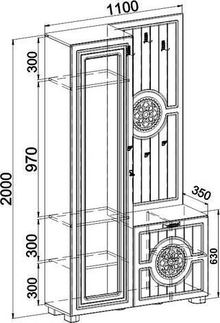 Шкаф комбинированный Монблан МБ-10 (Белое дерево), фото 2