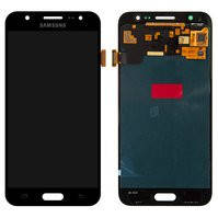 Дисплей Samsung J260 Galaxy J2 Core, чорний, з сенсорним екраном, Original (PRC), glass original