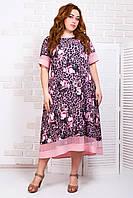 Платье свободного кроя стильное 50-52-54 ( разные цвета )