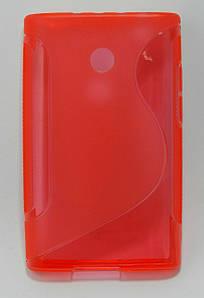 Чехол на LG Optimus L3 E400 TPU S формы Красный