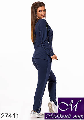 Темно-синий спортивный костюм женский (р. 42, 44, 46) арт. 27411, фото 2
