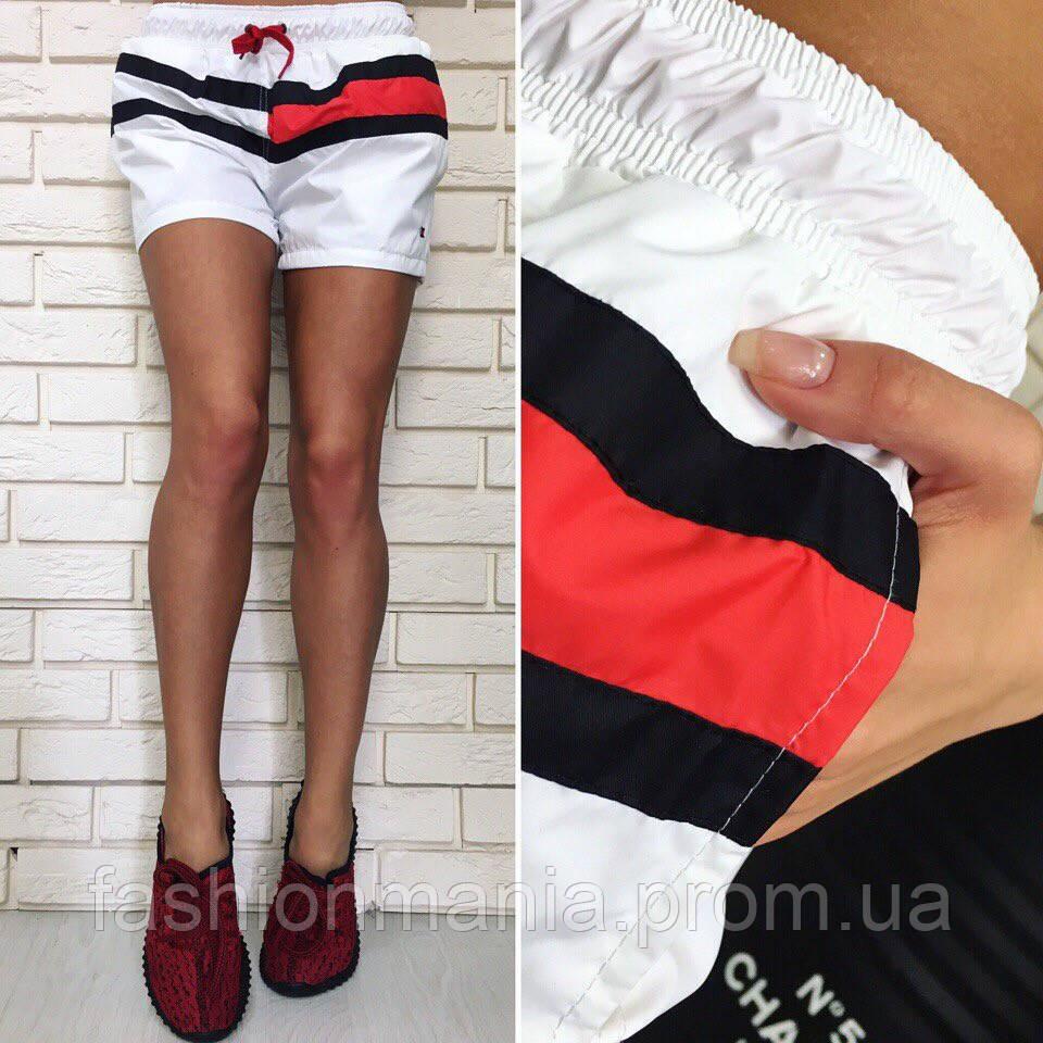 """Женские шорты «tommy hilfiger"""" красные, белые"""