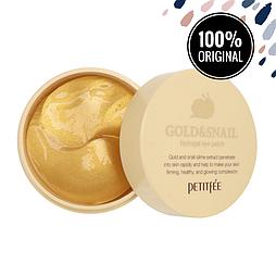 Гидрогелевые патчи для глаз с золотом и улиткой PETITFEE Gold & Snail Hydrogel Eye Patch, 60 шт