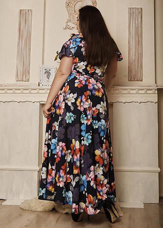 """Легкое платье в пол """"Гайтана"""" размеры 50,54 сирень, фото 2"""
