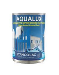 Краска Aqualux 2040 акриловая для дерева и металла, белая, Станколак (Stancolac) 2,5 л