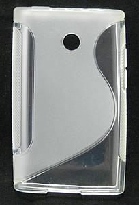 Чехол на LG Optimus L3 E400 TPU S формы LG Optimus L3 E400, E405, Прозрачный, LG, Китай