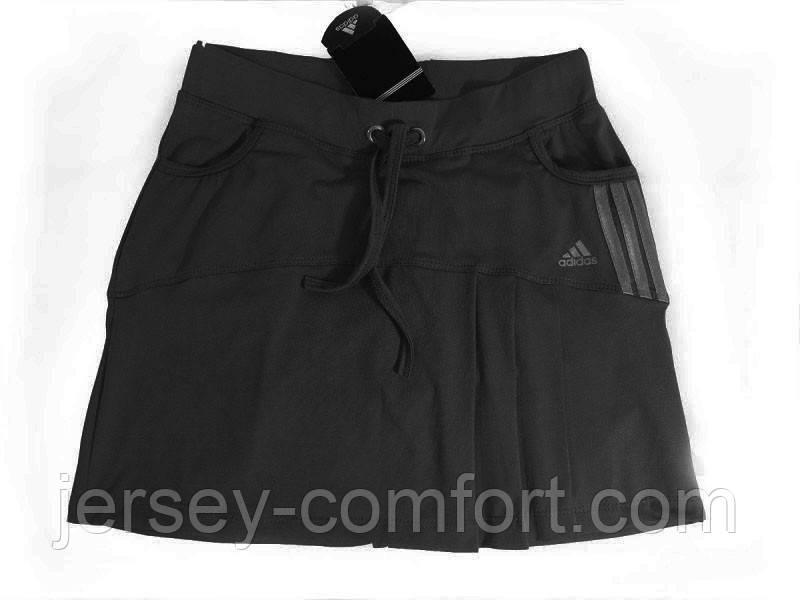 Юбка -шорты женская эластан. Юбка с шортами для тенниса. Юбка спортивная черная. Разные цвета.