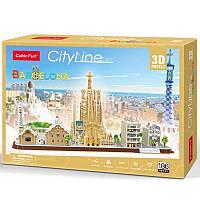 3D пазл CubicFun CityLine Барселона (MC256h)
