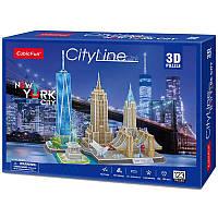 3D пазл CubicFun CityLine Нью-Йорк (MC255h)