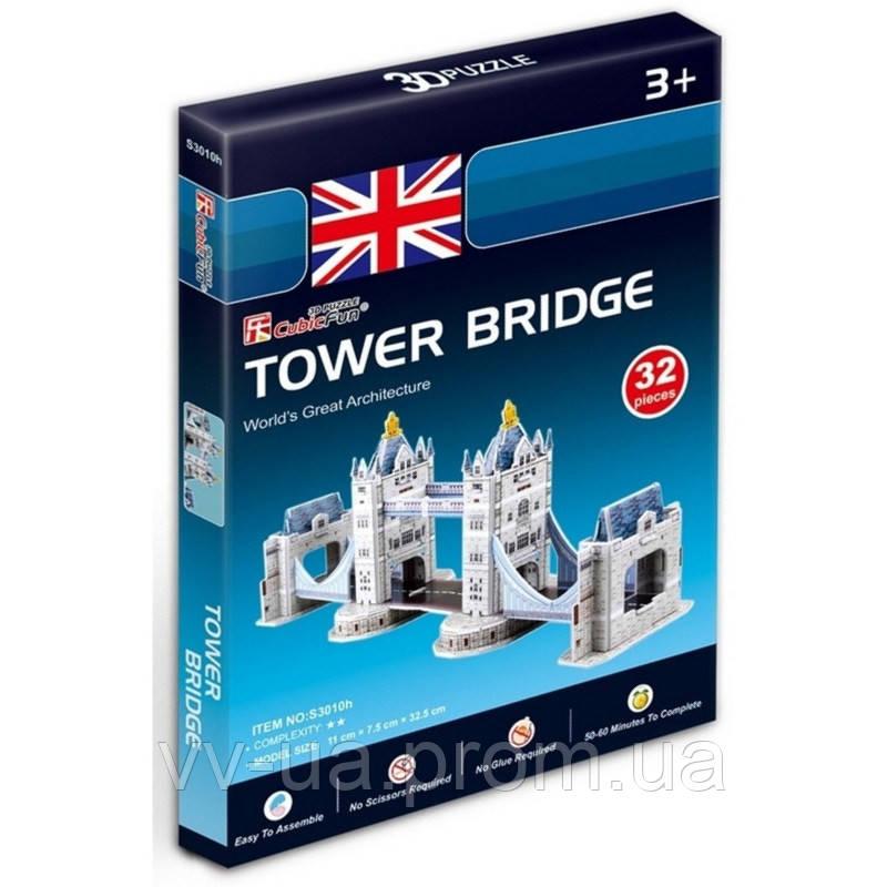 3D пазл CubicFun Mini Тауэрский мост (S3010h)